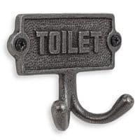 Toilet Door Sign With Hooks | Accessories